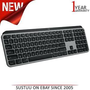 Logitech MX Keys Wireless Bluetooth QWERTY UK Keyboard│Backlit Keys│Space Gray