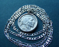 """American 1937 Philly Buffalo Nickel on  28"""" 925 Sterling Silver Linked Chain"""