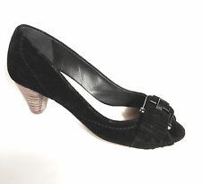 Zapatos De Gamuza Negra episodio tamaño 37EU-UK4