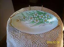 Jr Bavaria Porcelain China Vintage Daffodils Floral Pattern Celery Serving Dish