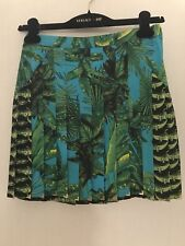 VERSACE FOR H&M PLEATED SILK SKIRT SIZE 4 US BRAND NEW WITH TAGS ATTACHED