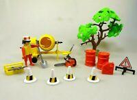 Playmobil Klicky Spielset aus 3562 Baustelle Bauarbeiter Betonmischer