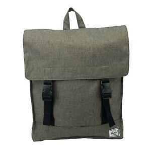 Herschel Backpack Square Flap Adjustable 2-Strap Book Bag Laptop Travel New
