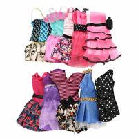 10 Pcs Fashion Handmade Dresses Clothes For Doll Style Random Color Toys 2019