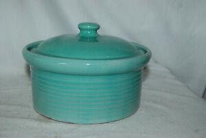 Weller Vintage TEAL Casserole Dish with Lid