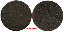 Lithuania Johann Casimir Copper 1666  TLB/HKPL Schilling XF Condition KM# 50