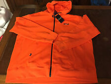 NWT RALPH LAUREN Polo Sport Fleece Hoodie BLAZE Zip ORANGE White Size M/L/2XL