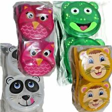 Pack 2 x Cute Animal Lunch Box Snack Containers + Spoon Nursery School Toddler
