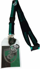 Harry Potter Slytherin School Lanyard Sticker ID Holder & Metal Charm Official