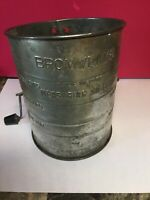 Vintage Bromwell's Metal Measuring Sifter 3 Cup With Black Handle