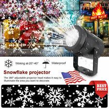 Luz LED Proyector Láser de copos de nieve Navidad Nieve al aire libre Jardín Paisaje Lámpara