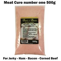 Meat Cure Salt #1 (6.25%) - 500g Jerky Ham & bacon Insta-cure, pink salt, Curing