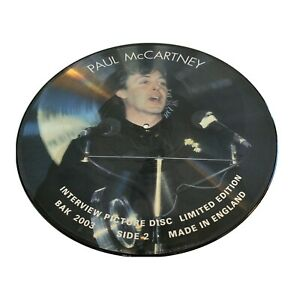 Paul McCartney Vinyl LP Interview Picture Disc Ultra Rare 2003 Made In England