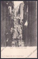 NAPOLI CITTÀ 186 PALLONETTO di S. LUCIA Cartolina primi '900