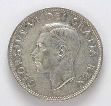 1950 Canada Silver 25 Cent George VI Km44 - XF #01281941g