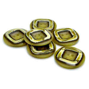 GREEN MARBLED 4 HOLE RIM BUTTONS 18mm 23mm 25.5mm 28mm and 32mm