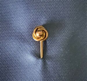 VINTAGE 1960'S 9CT GOLD TIE PIN. 350MM. 0.90G GOLD. PERFECT CONDITION.