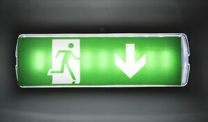 LED Notleuchte Notbeleuchtung EXIT Notausgang Fluchtwegleuchte Fluchtweg