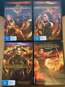The Hunger Games Complete 4-Movie DVD Collection Catching Fire Mockingjay 1 & 2