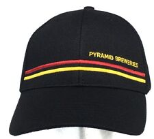 PYRAMID BREWERIES Black L/XL Stretch Fitted Hat Cap - Oregon Beer Brewery NEW!!!