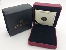 2009 Royal Canadian Mint $100 Gold Coin Anniversary Empty Red Leather Box & COA