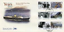 Tristan da Cunha 2017 MNH Prince Philip Visit 60th Anniv 6v Set Royalty Stamps
