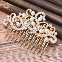 Bridal Crystal Pearl Flower Hair Comb Wedding Hair Accessories Hair Jewel%PJ Fy