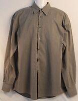 Men's ERMENEGILDO ZEGNA Green Striped Dress Shirt Size 15.5