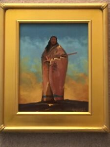 """Original Western Cowboy Indian Painting By Barry Euren A.I.F.A. """"The Peacemaker"""""""