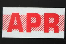 Old School 60's, 70's RED/WHITE Vintage Style CALIFORNIA MONTH STICKER. APRIL
