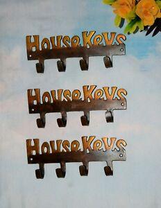Set Of 03 Pieces Brass House Keys Hook 4 In 1 Style Living Room Wall Hook EK387