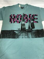 vtg 90s Hobie Sailing T-shirt Made  Usa Windsurfing Surfing XL Extra Large New!
