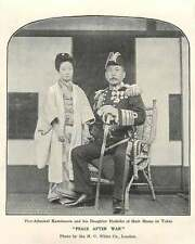 1905 Vice-admiral Kamimura And His Daughter Hoshiko At Home In Tokyo