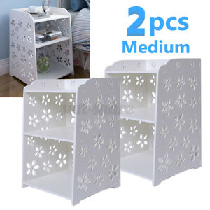 2pcs 50x30x40cm Bedroom Bedside Table Rack Night Stand Cabinet Organizer