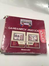 Mario Bros Game & Watch Multiscreen Scatola Originale ONLY BOX