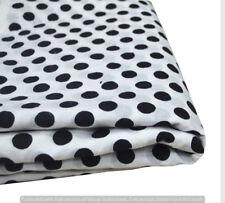 Indian Sanganeri Print White Hand Block Sewing Material Craft 5 Yard Fabrics