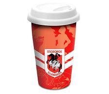 St George Illawarra Dragons CERAMIC TRAVEL COFFEE MUG Man Cave Bar Fathers Gift