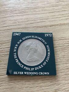 HM Queen Elizabeth II Duke of Edinburgh - SILVER WEDDING CROWN 1947-1972