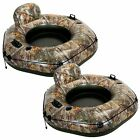 2 Pack Intex Realtree Camo River Tube Connect Inflatable Float Lounge