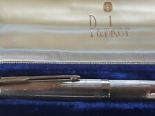 9ct Gold PARKER 61 PRESIDENTIAL FOUNTAIN PEN-WATERDROP- Solid Gold VGWO with BOX