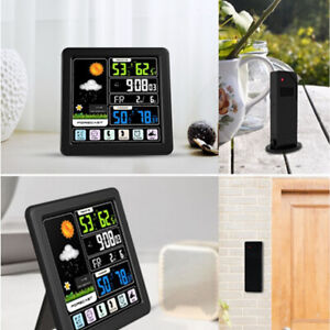 Digital Wireless Weather Station Indoor Outdoor Sensor Calendar Clock Hygrometer