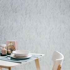 Embossed Textured Wallpaper white blue brown faux plaster wave stroke texture 3D