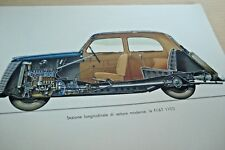 1941 FIAT 1100 AUTOCARRO FIAT 666N 626N STRUTTURA PARTI MOTORE 1 ED. TAVOLE