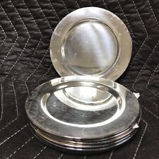 "VTG  ""6"" Silver Plate hors d'oeuvres Dishes Set Of 6 By WM A Rogers Engraved ""K"""