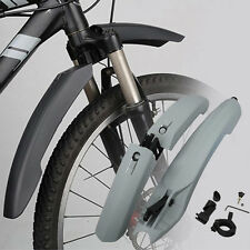 Mountain Bike Bicycle Fenders Mud Guards Front Rear Set LED Tail Light Mudguards
