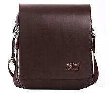 Mens Messenger Bags Genuine Leather PU Side Shoulder Man Bag Purse Travel School
