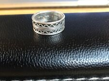 Size 10 925 Steeling Silver Band Ring