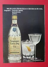 1965 Seagram's Extra Dry Gin - Perfect Martini Gin Color AD