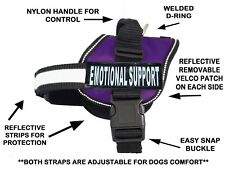 Emotional Support Nylon Dog Vest Harness. Purchase Comes With 2 Reflective Your