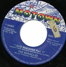 THE MIRACLES 45 TOURS CANADA MOTOWN LOVE MACHINE